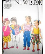 New Look Vintage Sewing Pattern for kids Shirt,Skirt,Pants,Shorts - $5.93