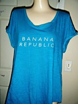 BANANA REPUBLIC TEAL SHORT SLEEVE TOP SIZE XL - $16.44