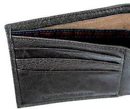 NEW TOMMY HILFIGER MEN'S PREMIUM LEATHER COIN WALLET YEN BILLFOLD BROWN 5647/02 image 8