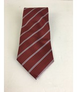 Canali Mens Tie Wine Red Classic Width Made in Italy - $59.39