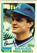 1982 Topps Bruce Benedict Atlanta Braves #424 Baseball Card - $1.97
