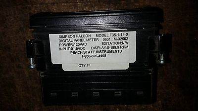 SIMPSON ELECTRIC FALCON F35-1-13-0 Digital Panel volt Meter