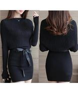 Long Sleeve Bodycon Women'S Autumn/Spring Knitted Dress Loose Sweater Ba... - $28.99