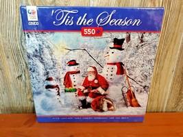 """Ceaco Puzzle """"Tis The Season"""" (550) Piece Santa Snowman Snow New - $16.95"""