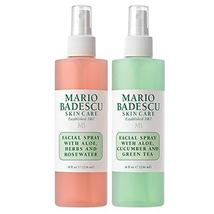 Mario Badescu Facial Spray with Rosewater & Facial Spray with Green Tea ... - $28.99