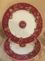 Waverly Fruit Toile Pattern Dinner Plates - Set of 2 Dinner Plates - Great Cond! - $28.15