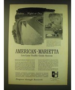 1961 American-Marietta Lite-Lane Traffic Guide System Ad - Safety Night ... - $14.99