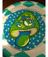 Awesome Retro MoD Mushroom Graphic Serving or Display Tray - Fab Colors! - $23.38