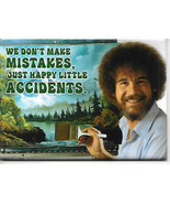 Bob Ross Joy of Painting We Don't Make Mistakes Refrigerator Magnet NEW ... - $3.99