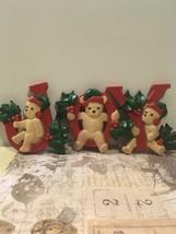 Vintage Homeco Plastic JOY Teddy bear Christmas Decor t - $12.00