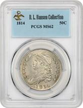 1814 50c PCGS MS62 ex: D.L. Hansen - Bust Half Dollar - $3,860.60