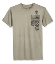 $24 Ring Of Fire Mens Military Embellished T-Shirt, Olive, Size S. - $15.83