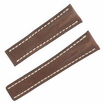 Breitling 444X 24-20mm Genuine Leather Brown Men's Watch Band - $299.00
