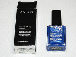 Avon Mosaic Effects Top Coat Blue Flash 12 ml 0.4 fl oz polish mani pedi - $10.68