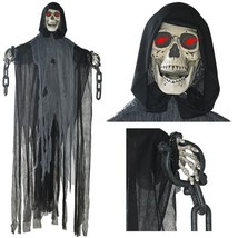 Prextex 5 Ft. Animated Hanging Grim Reaper Skull with Shackles Chains B... - €27,23 EUR