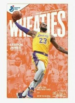 Lebron James Wheaties cereal full box 15.6 unreleased SOLD OUT! Lakers  - $59.39
