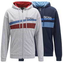Hugo Boss Men's Cotton Sweater Zip Up Hoodie Sweatshirt Track Jacket