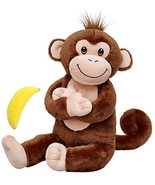 Build a Bear Smiley Brown Monkey with Banana 17in. Stuffed Plush Toy Animal - $89.95