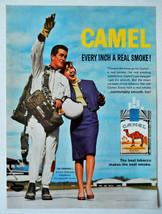 Vtg 1963 Camel cigarettes parachutist Jim Arender advertisement print a... - $13.67