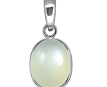 Moonstone Real Pendant 6 Carat Stone Sterling Silver Locket Birthstone Charm