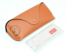 NEW RAY-BAN  SUNGLASSES EYEGLASSES GLASSES OPTICAL BROWN LEATHER CASE CLOTH - $14.95