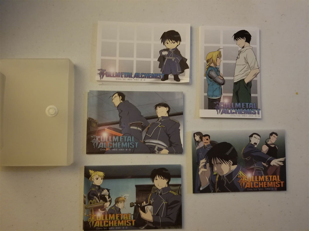 "Fullmetal Alchemist ""Roy Mustang"" Card Holder w/ 5 Sets of Art Cards * Anime"