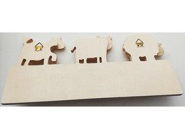Sierra Pacific Crafts Unfinished Pine Wood Coat/Accessories Hanger for Children