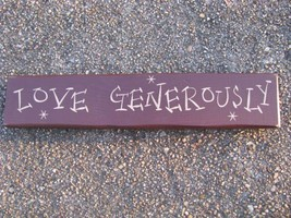 Primitive Wood Block  9008LG- Love Generously   - €5,42 EUR
