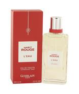 Habit Rouge L`eau by Guerlain Eau De Toilette  3.3 oz, Men - $32.76