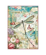 Stamperia Rice Paper Sheet A4-wonderland Dragonfly - $7.49