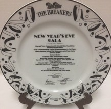 1989 The Breakers Menu Palm Beach Florida New Years Eve Gala Plate Vintage - $59.99