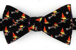 Woodstock Witch Halloween Men's Bow Tie Licensed Adjust Peanuts Black Necktie - $29.35