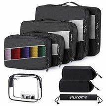 Puroma 4 Sizes Packing Cubes, 11 Pcs Luggage Organizers with 5 Packing (... - $25.95