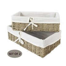 Woven Wicker Storage Baskets (Seagrass) | Decorative Baskets and Bathroo... - £21.95 GBP+