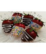 Dezicakes Fake Chocolate Dipped Strawberries Blue Sprinkles- Jumbo Set o... - €16,80 EUR