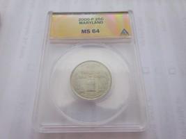2000-P , Washington Quarter , Maryland , ANACS , MS 64 - $9.00