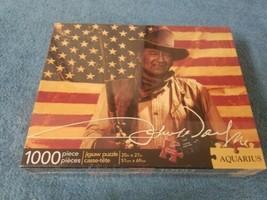 NEW John Wayne Jigsaw Puzzle AMERICAN FLAG 1000 Pieces Aquarius FACTORY ... - $23.75