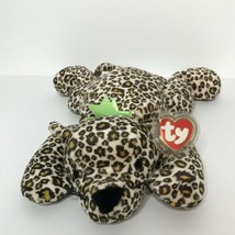 "TY Speckles Leopard Pillow Pals Collection Plush 14"" Long Laying with tag - $18.52"