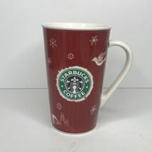Starbucks 2008 Holiday Christmas Red 16 oz Tall Grande Coffee Mug Cup - $8.86