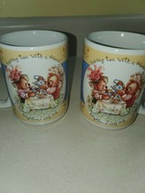HALLMARK Houston Harvest Having Tea With A Friend BEARS Mug Cup 14oz. (s... - $16.69
