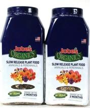 2 Jobe's Organics 1.2 Lbs Biozome Annuals & Perennials Slow Release Plan... - $20.99