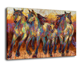 "Cartoon Art Oil Painting Print On Canvas Home Decor""horses""Framed - $16.82+"