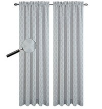 Urbanest 54-inch by 84-inch Napa Set of 2 Sheer Curtain Drapery Panels, Gray - $28.70