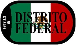 """Distrito Federal Mexico Flag Dog Tag Kit 2"""" Metal Novelty Necklace DT-3451 - $9.40"""