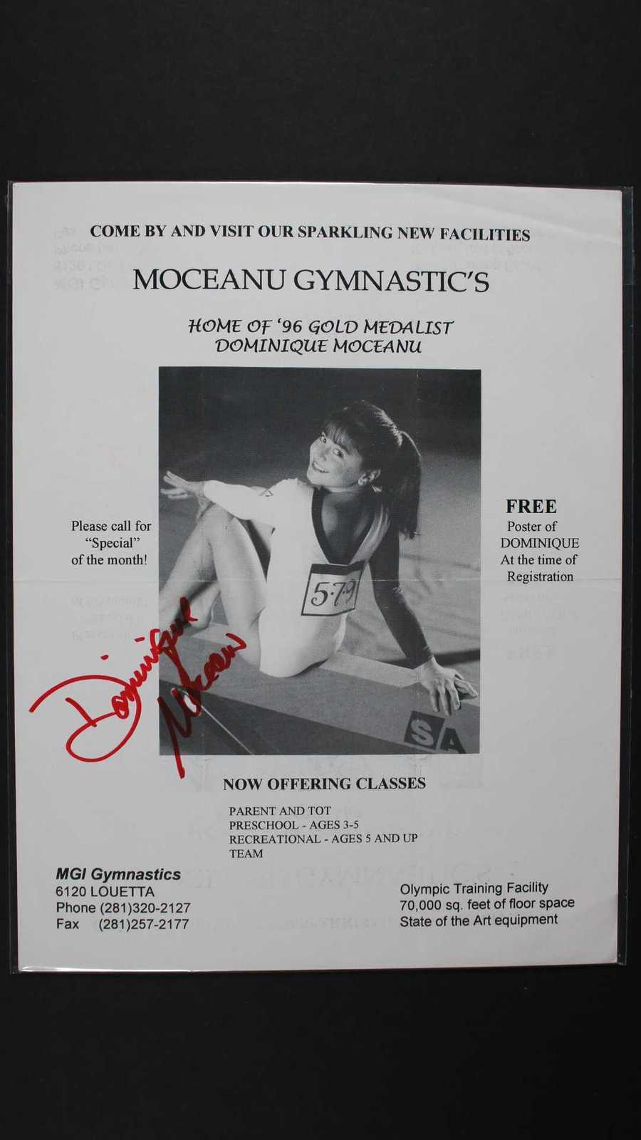 Primary image for Dominique Moceanu Signed Autographed 8x10 Promo Photo