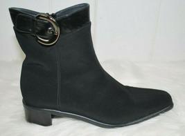 Stuart Weitzman Womens 7.5 M Gore-tex Booties Ankle Boots Black Buckle Side Zip  - $123.70