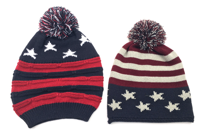 Case of [24] Patriotic Knit Winter Hats