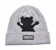 Primitive x Grizzly GripTape Grey Bear Fold Cuff Beanie Winter Skate Hat Skully