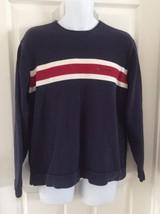 VTG Mens Tommy Hilfiger Jeans Sweater Color Block Logo Flag Size Large H... - $32.41