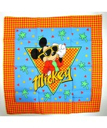 Vintage 1990's Disney Mickey Mouse on Vacation Bandana Scarf  by Woronow... - $11.99